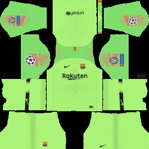 Barcelona UEFA Badge Goalkeeper Away Kit