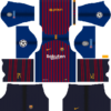 Barcelona Kits UEFA Badge 2018/2019 Dream League Soccer