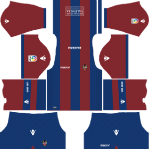 Levante UD Kits 2017/2018 Dream League Soccer