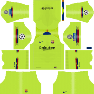 Barcelona UEFA Champions League Badge Away Kit
