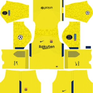 Barcelona UCL Goalkeeper Away (Yellow) Kit