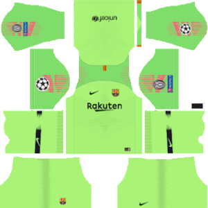 Barcelona UEFA Champions League Badge Goalkeeper Away Kit
