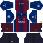 Barcelona Kits UEFA Champions League Badge 2018/2019 Dream League Soccer