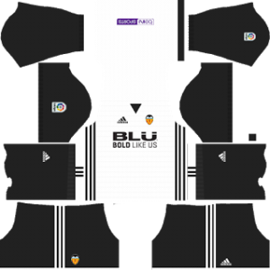 Valencia CF Kits 2017/2018 Dream League Soccer