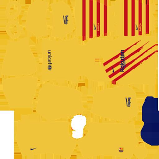 Barcelona GoalKeeper Yellow Kit