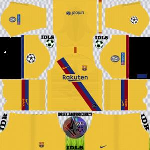 Barcelona UCL GoalKeeper Yellow Kit