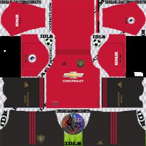 Manchester United Home Kit (Black Shorts)