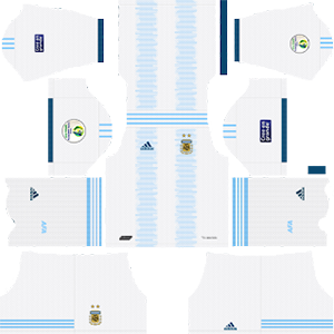 Argentina Copa America Home Kit (White Shorts)