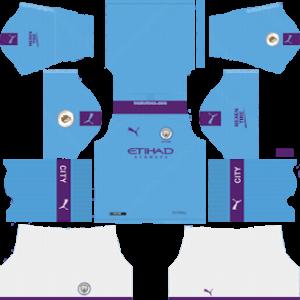 Manchester City Home Kit (Blue Socks)