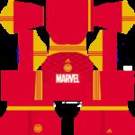 Marvel Iron Man, Spider-Man, Hulk, 2019 Dream League Soccer Kits