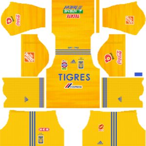 Tigres UANL Kits 2019/2020 Dream League Soccer