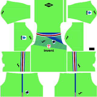 Sampdoria Goalkeeper Home Kit