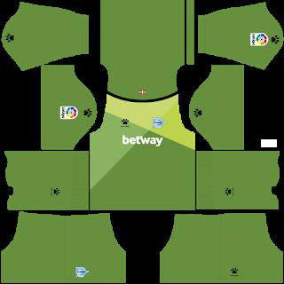 Deportivo Alaves Goalkeeper Home Kit