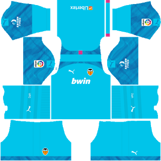 Valencia CF DLS Kits 2021 | Dream League Soccer Kits 2021