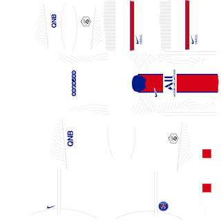 Kit Fora do Paris Saint-Germain