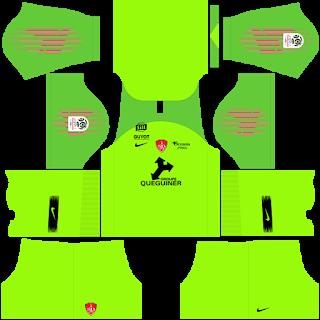 Stade Brestois Goalkeeper Home Kit