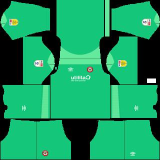 Brentford FC Goalkeeper Home Kit