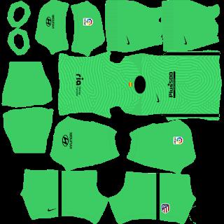 Atletico Madrid GoalkeeperAway Kit