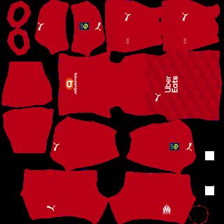 Olympique Marseille Goalkeeper Home Kit