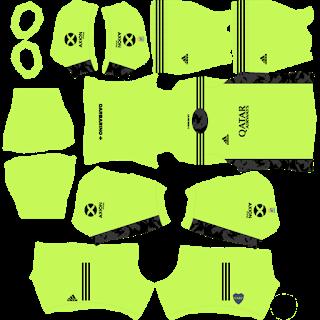 Kit de goleiro da casa do Boca Juniors
