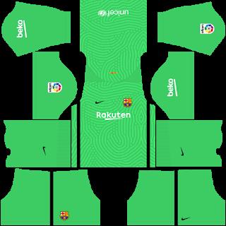 Barcelona Goalkeeper Home Kit
