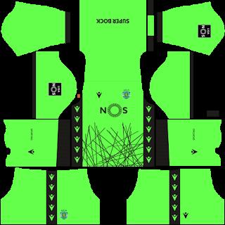 Sporting CP GoalkeeperAway Kit