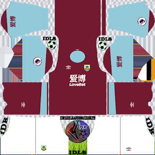 Burnley FC DLS Kits 2021
