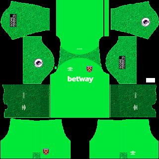 West Ham gk home kit 2022