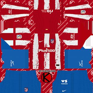 Atletico Madrid DLS Kits 2022