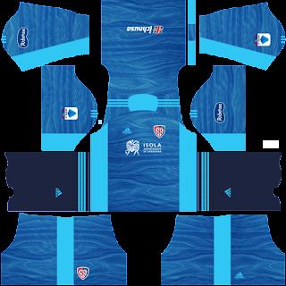 Cagliari gk away kit 2022